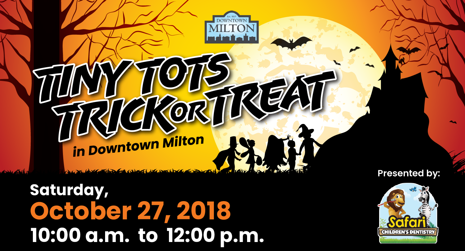 Downtown Milton Tiny Tots Trick or Treat poster